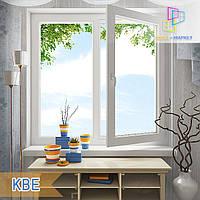 """Двустворчатые окна КВЕ 58, 70. 1200х1400 (стеклопакет однокамерный, двухкамерный). """"Окна Маркет"""", фото 1"""