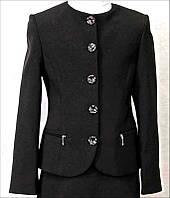 Пиджак для девочки Фея 116-140 синяя