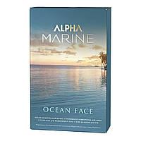 Набір Ocean Face ALPHA MARINE шампунь+ сироватка для обличчя + гель навколо очей + бальзам для губ