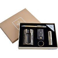 Подарочный набор Moongrass 4в1, зажигалка + пепельница + брелок + ручка