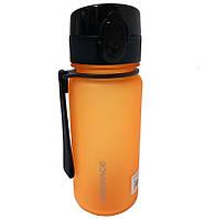 Бутылка для воды UZSPACE 3034 350 мл, оранжевая