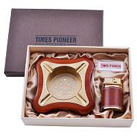 Подарочный набор Pioneer 2в1, пепельница + зажигалка