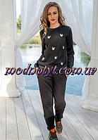 Утепленный женский костюм на флисе