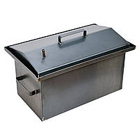 Коптильня горячего копчения 2мм 520х320х300мм с Гидрозатвором (коптилка,каптилка), фото 1