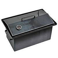 Коптильня гарячого копчення 2мм 460х260х240мм з термометром (каганець,каптилка), фото 1