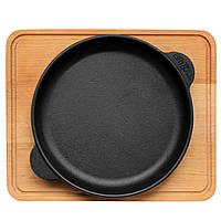 Сковорода чавунна Brizoll з підставкою 180х25 мм Бризол, фото 1
