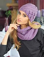 Стильный комплект из красивой шапочки и снуда Adela от Kamea.