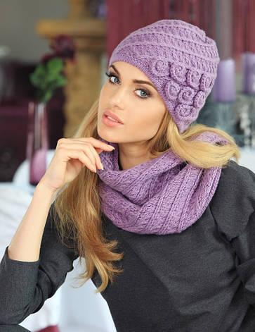 Стильный комплект из красивой шапочки и снуда Adela от Kamea., фото 2
