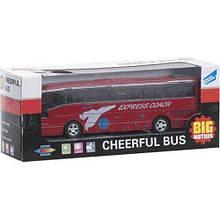 Автобус игрушка инерционный Big Motors красный (XL80136L-1)
