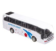 Автобус игрушка инерционный Big Motors, белый (XL80136L-4)