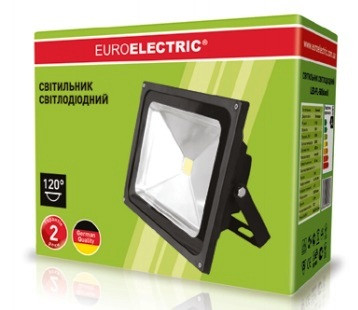 Прожектор LED COB 50 Вт 6500К черный Euroelektric