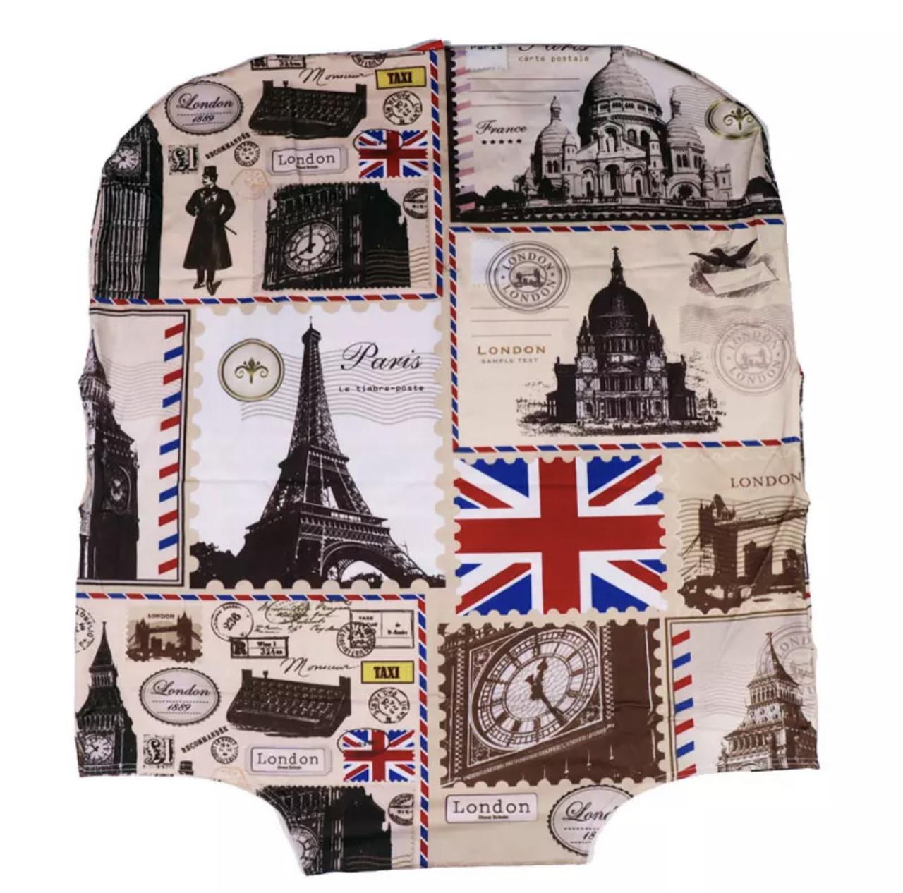Чохол на валізу М середній з принтом Англія
