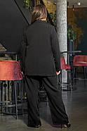 / Розмір 44,46,48,50 / Жіночий офісний костюм піджак з брюками / колір чорний, фото 2