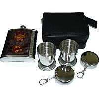 Подарочный набор, барсетка + стаканы + брелки