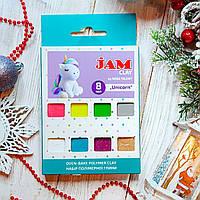 """Подарочный набор детской полимерной глины Jam """"Unicorn"""" Единорог, 8шт.*20г бруски, фото 1"""