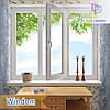 """Пластиковое трехстворчатое окно Windom De Luxe 1800x1400""""Окна Маркет"""""""