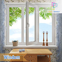 """Пластиковое трехстворчатое окно Windom De Luxe 1800x1400""""Окна Маркет"""", фото 1"""
