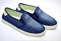 Мокасины джинсовые  мужские р 40-45