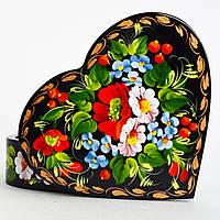 Украинские сувениры Шкатулка для украшений. Мак, ромашка, незабудка-1
