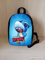 Дитячий міні рюкзак Brawl Stars Leon Бравл Старс Леон Акула, фото 1