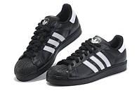 """Кроссовки Adidas Superstar 80 """"Black White"""" - """"Черные Белые"""""""