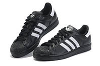 """Кроссовки Adidas Superstar 80 """"Black White"""" - """"Черные Белые"""" (Копия ААА+)"""