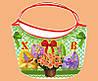 Корзина пасхальная с цветами