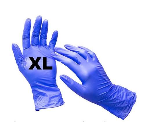 Рукавички нітрил-вініл неопудрені MediOk (сині) XL 50 пар