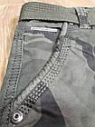 Джинсы мужские ITENO (Tophero) р.31 прямые Камуфляж зелёные с боковыми накладными карманами весна/осень, фото 5
