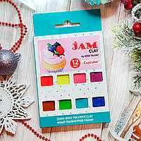"""Подарочный набор детской полимерной глины Jam """"Cupcake"""" Пирожное, 12шт.*20г бруски"""
