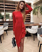 Жіноче плаття, французький трикотаж, р-р 42-44; 44-46 (червоний)