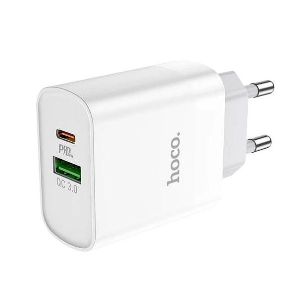Блок питания Hoco C80A быстрая зарядка QC 3.0 18W + Type c 20W
