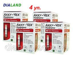 Тест-полоски Акку Чек Перформа (Accu-Chek Performa) 4 упаковки - 200 штук