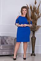 """Платье женское молодежное креп-дайвинг размеры 50-54(6цв)  """"INGHIR"""" купить недорого от прямого поставщика"""