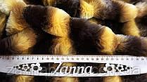 Искусственный мех Шиншилла цвет желто-коричневый (высота ворса - 15 мм)