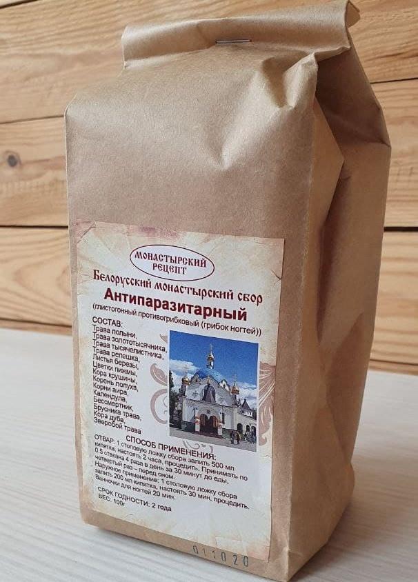 Белорусский монастырский сбор Антипаразитарный, Травяной чай от паразитов, Натуральные препараты   ТОЙС