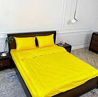 """Хлопковое постельное белье из ткани страйп-сатин цвета """"желтый"""""""