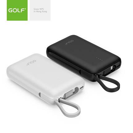[ОПТ] Портативний акумулятор Power bank GOLF G74 10000mAh з перехідниками Lightning і micro-USB, фото 2