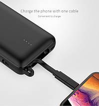 [ОПТ] Портативний акумулятор Power bank GOLF G74 10000mAh з перехідниками Lightning і micro-USB, фото 3