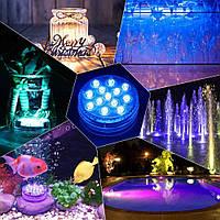 Светодиодная подсветка для аквариума с пультом ргб Rainbow Shower 13 LED RGB подсветка фасада, бассейна (TI)