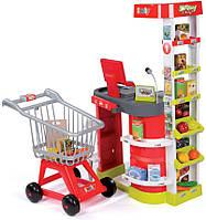 Интерактивный супермаркет City Shop с тележкой и аксессуарами Smoby (350204)