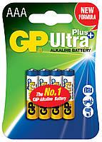 Батарейка GP 24AUP-U4 Ultra Plus alkaline LR03 AAA (блистер, 4/40)