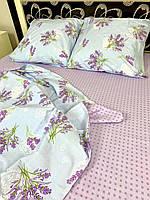 """Хлопковое постельное белье из ткани бязь расцветки """"Лаванда"""""""