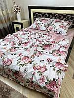 """Хлопковое постельное белье из ткани бязь расцветки """"Вилла роза"""", фото 1"""