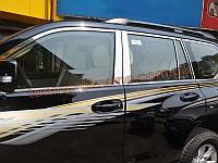 Хромированные накладки на стекла (стекольный молдинг) Toyota Prado FJ150