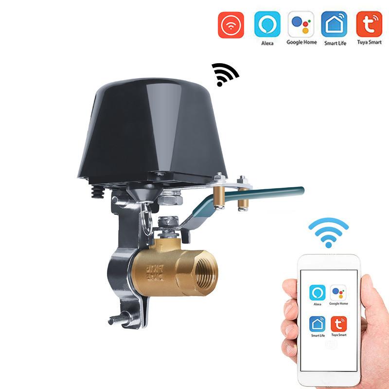 Умный Wi-Fi электропривод для шарового крана работает с приложением Tu