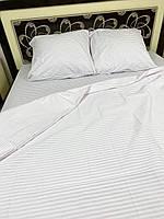 """Хлопковое постельное белье из ткани бязь расцветки """"Белая полоска"""""""