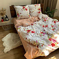 """Хлопковое постельное белье из ткани бязь расцветки """"Цветочный пассаж"""""""