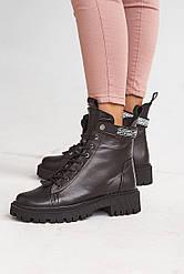 Женские ботинки кожаные зимние черные Vikont 45-06-19 на меху