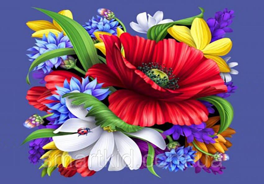 Алмазная мозаика 20х30 Цветы JS20605